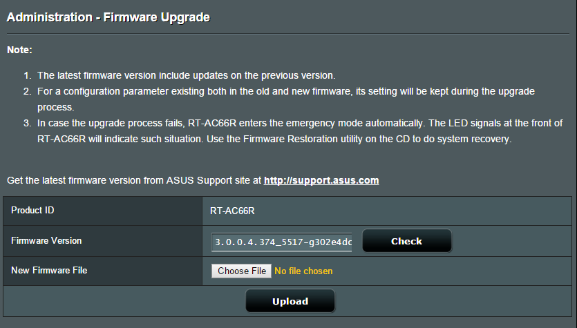 how to change the admin password on a asus rt-ac86u