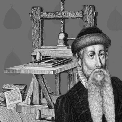 johannes gutenberg Although johann gutenberg's seminal invention of printing from movable metal type is well documented, very little is known about the man himself.