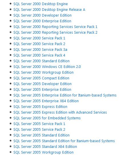 Microsoft SQL Server legacy