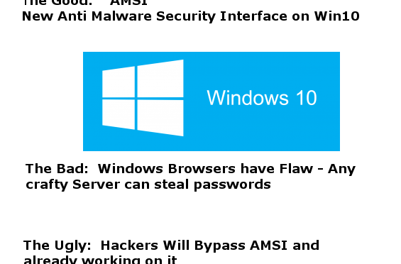 Windows Good, Bad, and Ugly Security News